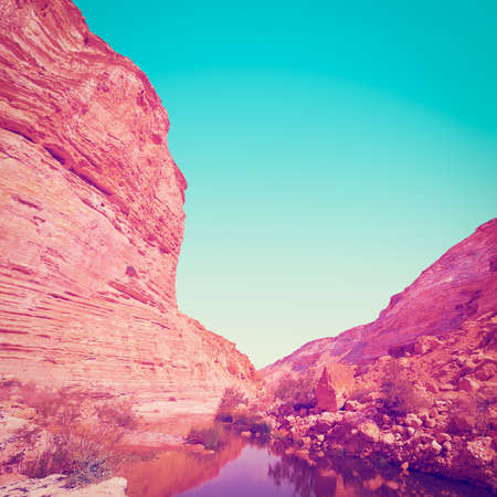 cavern: Canyon En Avedat of the Negev Desert in Israel