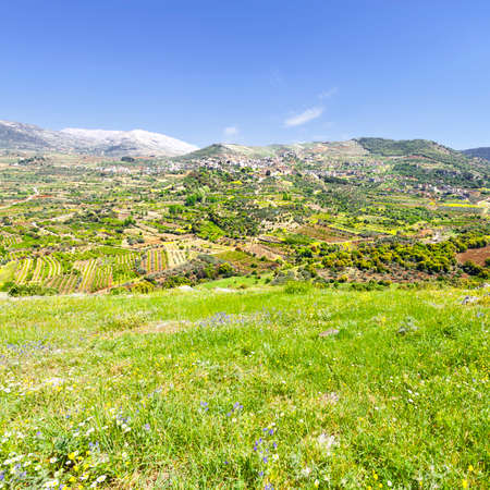heights: View of the Druze Town on the Golan Heights Stock Photo