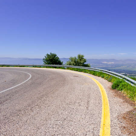 the golan heights: Asphalt Road in the Golan Heights