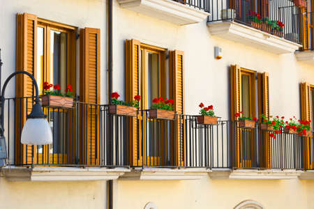 resplendence: Italian Balconies Decorated with Fresh Flowers
