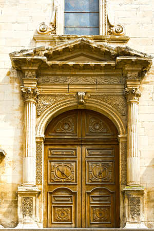 Detail of Portal of the Church  in the Sicilian City of Ragusa