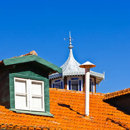 Roof in the  Historic Center City of Cintra in Portugal