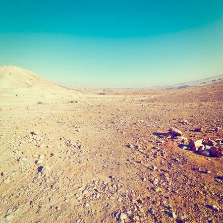 negev: Rocky Hills of the Stone Desert in Israel, Effect Stock Photo