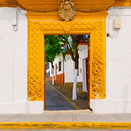resplendence: lView to the Street through the Gate in Spanish Town