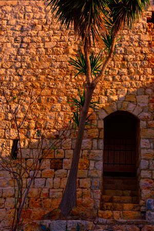 Remnants of Crusader castle in Israel at sunset. The Yehiam Fortress, National Park of Israel