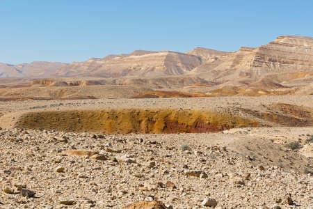 rock formation: Rocky hills of the Negev Desert in Israel. Breathtaking landscape of the desert rock formations in the Southern Israel Desert.
