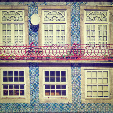 Windows Decorated with Portuguese Ceramic Tiles, Instagram Effect