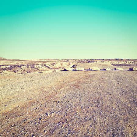 negev: Rocky Hills of the Negev Desert in Israel at Sunset, Instagram Effect