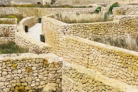 Victoria also known among the native Maltese as Rabat on maltese island Gozo. Labyrinth of narrow streets in the citadel