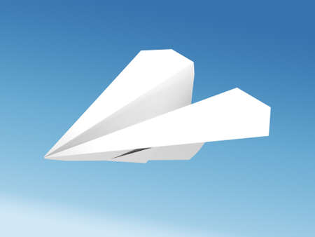 Paper airplane against the blue sky  photo
