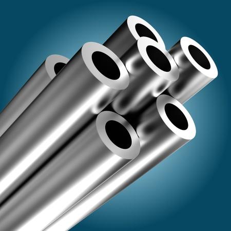 Metal tube Stock Photo - 9781616