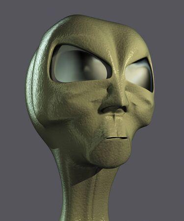 Alien head Stock Photo - 9919391