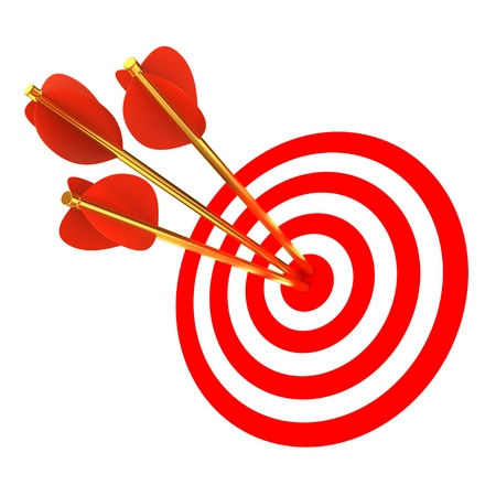 Three arrows in a target  photo