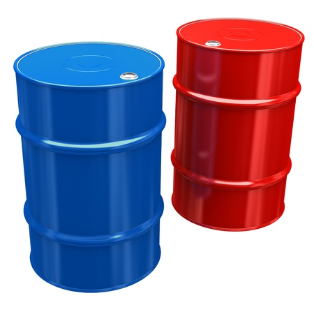 Olie-Barrels Stockfoto