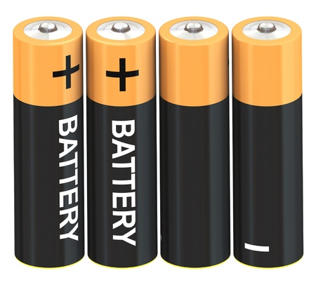 Set of battery Stock Photo - 9919392
