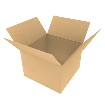 Open cardboard box Stock Photo - 9912418