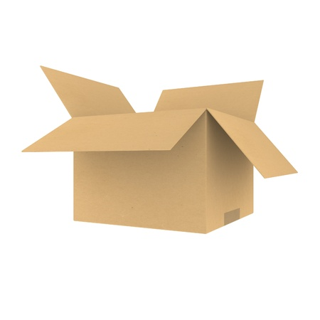 Open cardboard box Stock Photo - 9912406