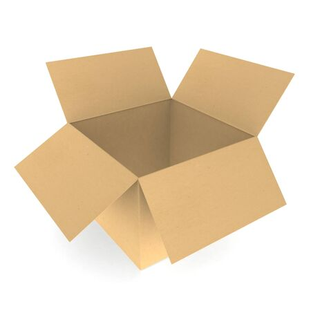 Open cardboard box Stock Photo - 9919333