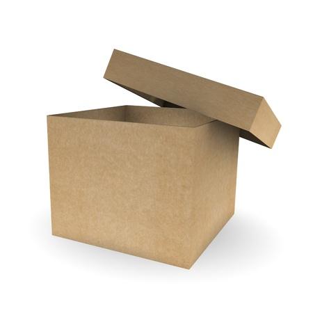 Open cardboard box Stock Photo - 9919361