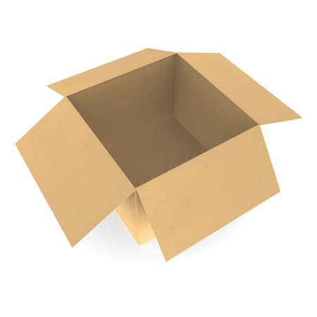 Open cardboard box  Stock Photo - 9919319