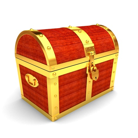 Wooden treasure chest Stock Photo - 9919580