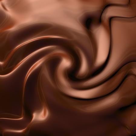 chocolate swirl: Dark chocolate swirl Stock Photo