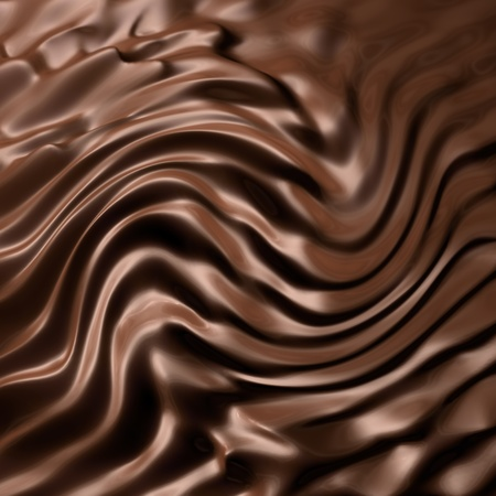 frosting: Dark chocolate swirl Stock Photo