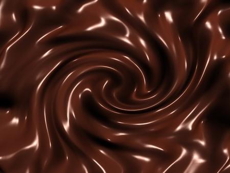 Dark chocolate swirl photo