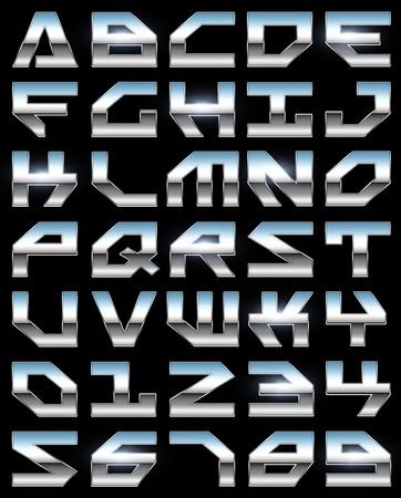 Chrome alphabet  photo