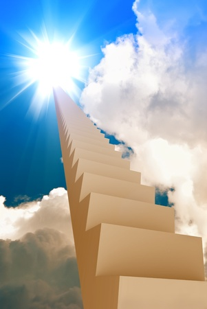 stairway leading to the sun Stock Photo