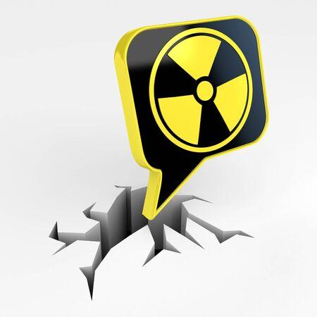 Radiation mark  photo