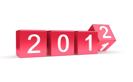 New year 2012  Stock Photo - 9912393
