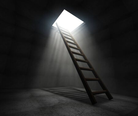 Ladder to freedom Stock Photo - 9919570