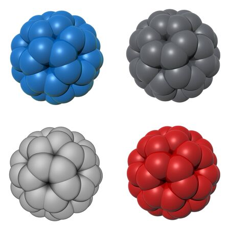 Model of molecule photo