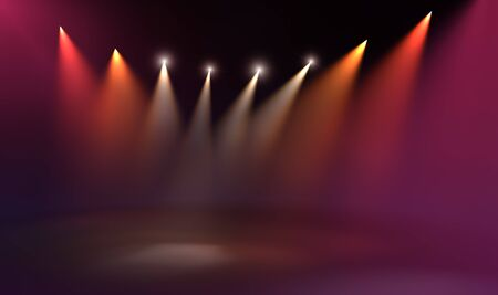 life stages: Stage illumination background