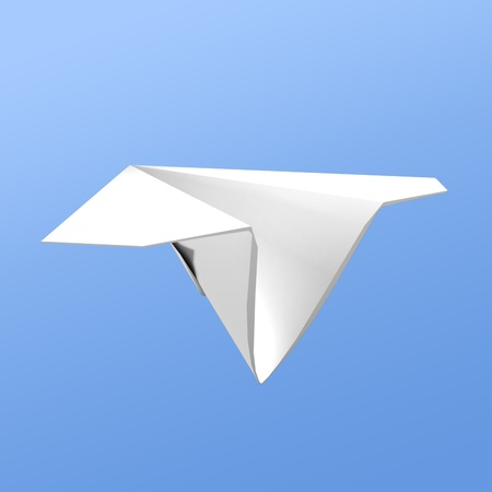 Paper airplane  photo