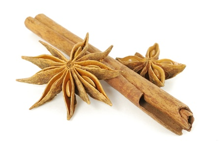 licorice: Cinnamon sticks and anise stars  Stock Photo