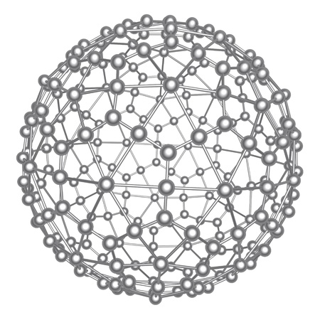 molecular structure: Abstract atom ball