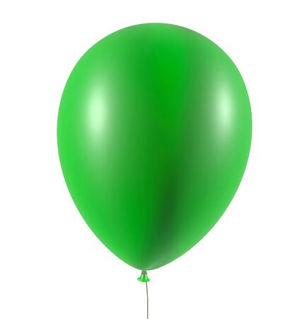 baloon: Inflatable balloon - isolated on the white background