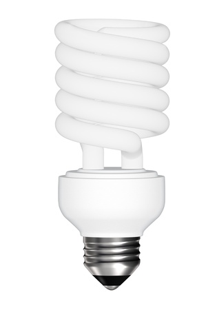 energy saving light bulb isolated photo