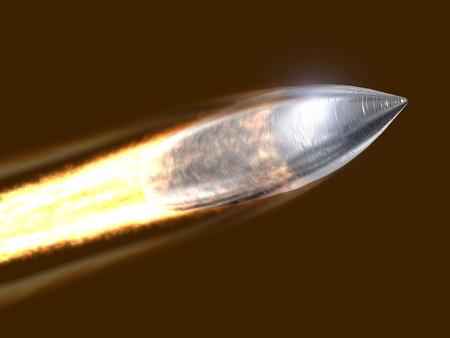 a bullet: Flying bullet
