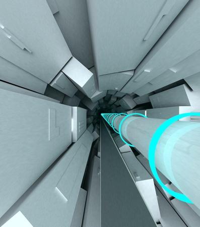 Colisionador de Hadrones ilustración Foto de archivo