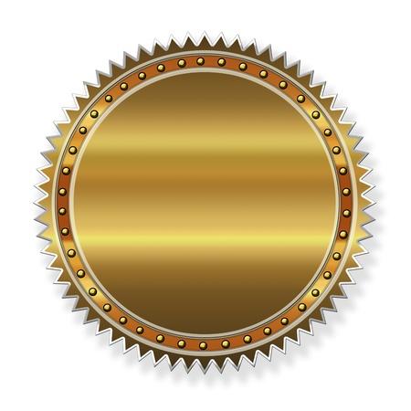 Golden label  photo