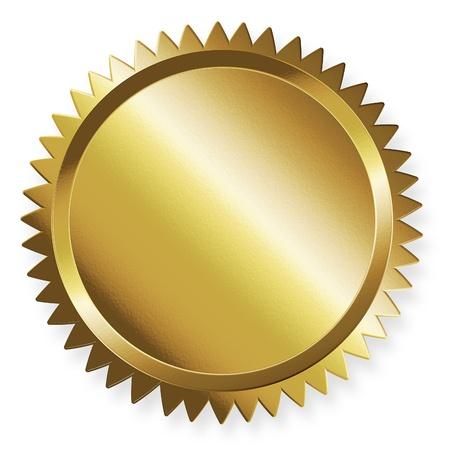 gold seal: Golden label