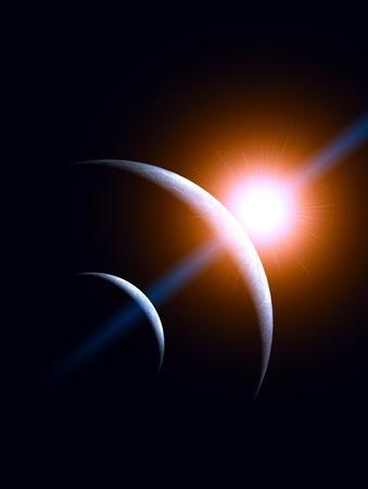 satelite: Orange sun