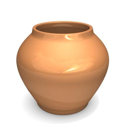 flowers in vase: Ceramic pot