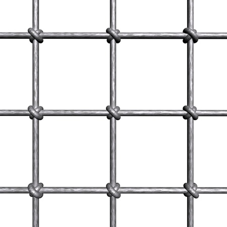 jail background: Metallic prison bars - isolated on white background