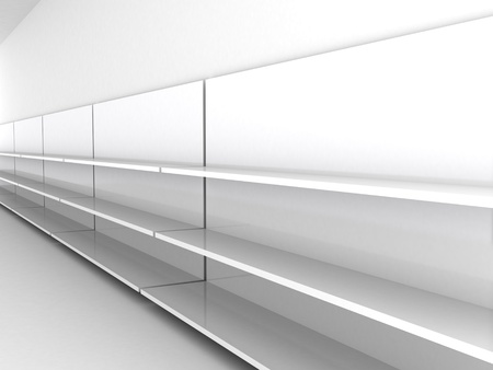 product display: Empty shelves