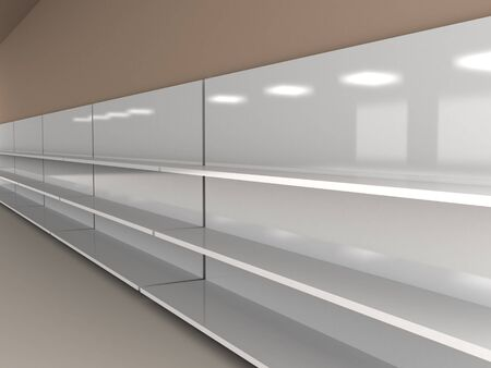 retail equipment: Empty shelves