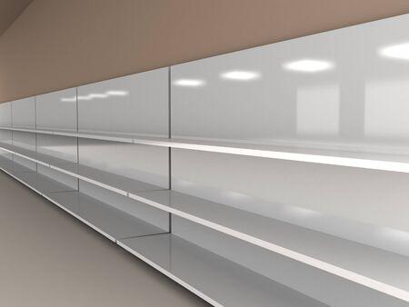 retail display: Empty shelves